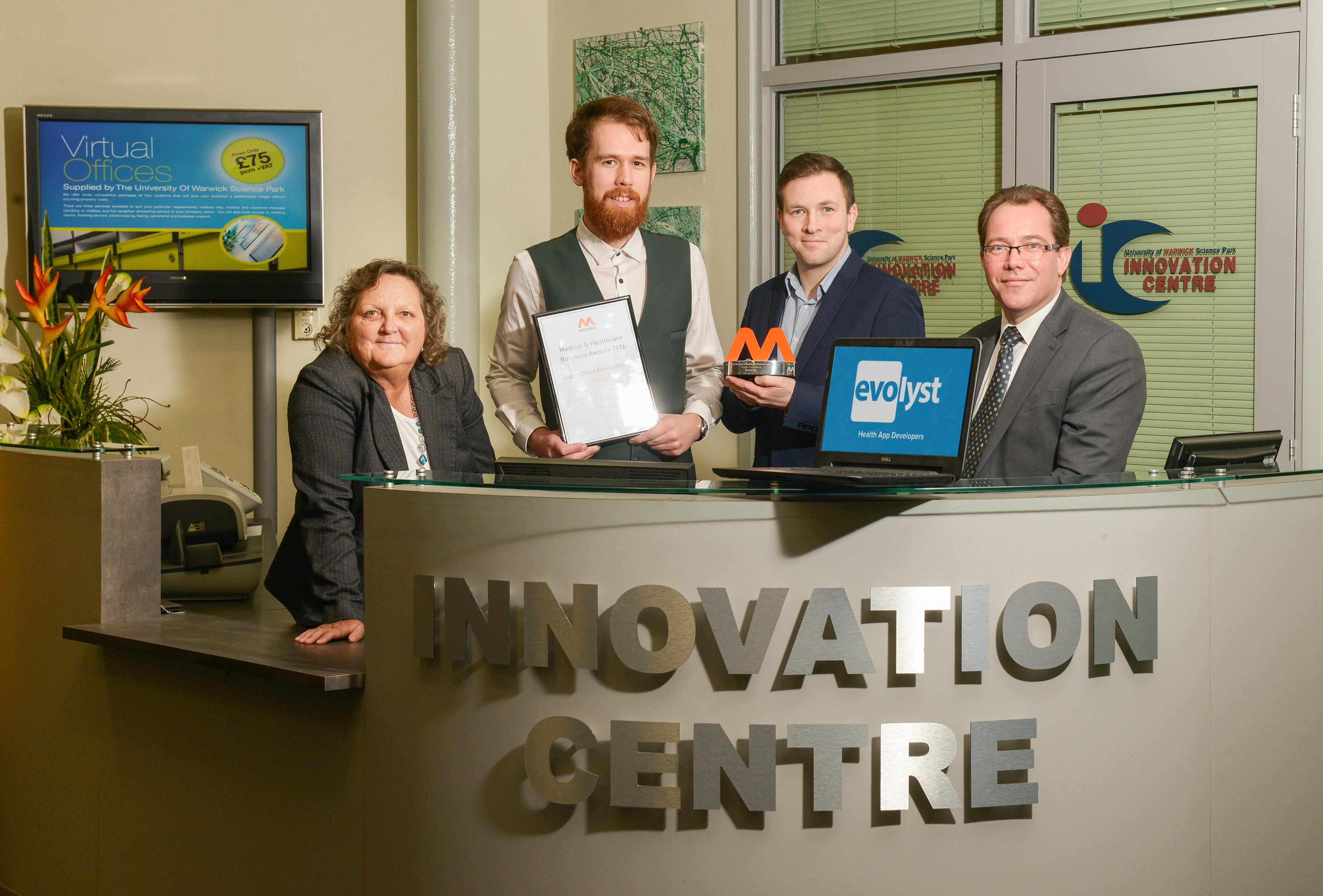 Evolyst wins Medilink West Midlands healthcare business award