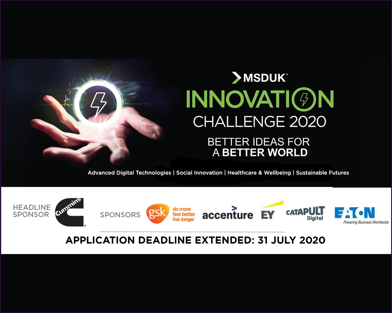 MSDUK Innovation Challenge 2020 Deadline Extended